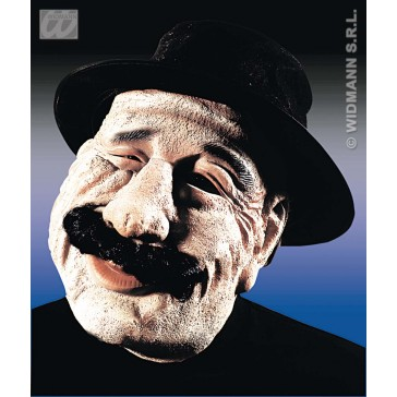 masker oude man met vilten hoed en snor