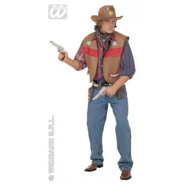 verkleedset, cowboyvest volwassen