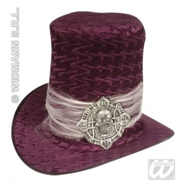 hoge hoed fluweel met schedel