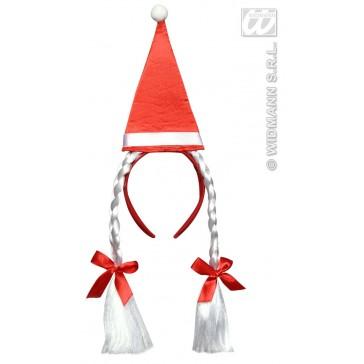 hoed kerstman met vlechten