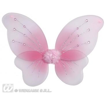 vleugels glitter rose met 12 steentjes