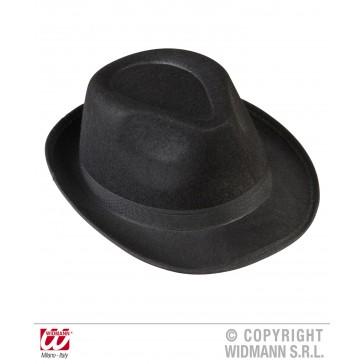 zwarte gangster hoed velt