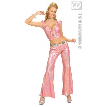 holografische broek dames, rose