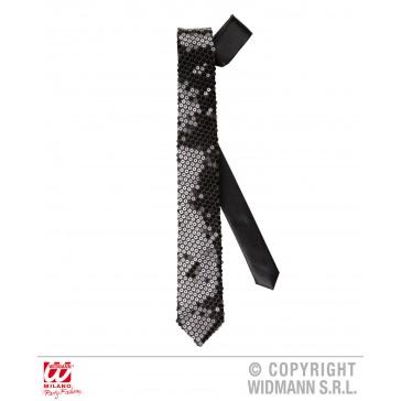 stropdas pailletten zwart