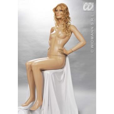 mannequin zittende vrouw