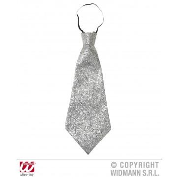 stropdas lurex, zilver