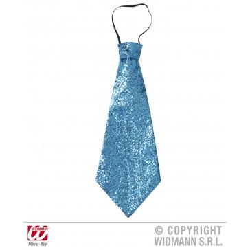stropdas lurex, blauw