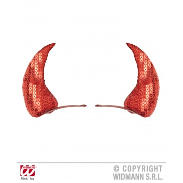 haarclips rode pailletten hoorntjes