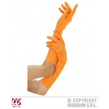 handschoen lang neon, oranje