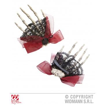 broche/haarclip skelet hand