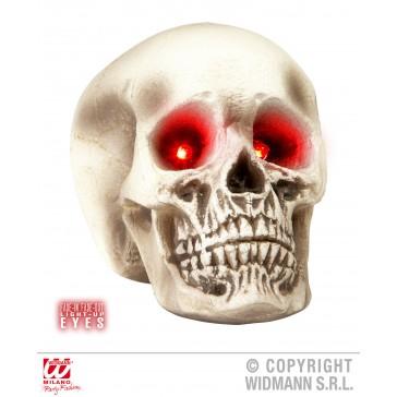 schedel met lichtgevende ogen, 22cm