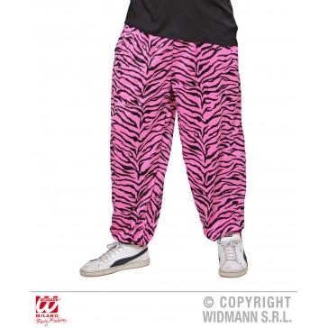 baggy broek 80's zebra Roze