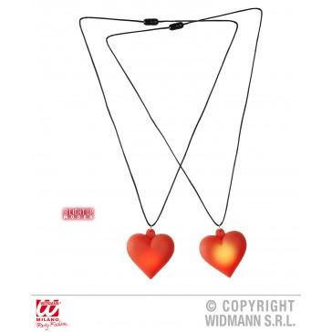 ketting met lichtgevend hart