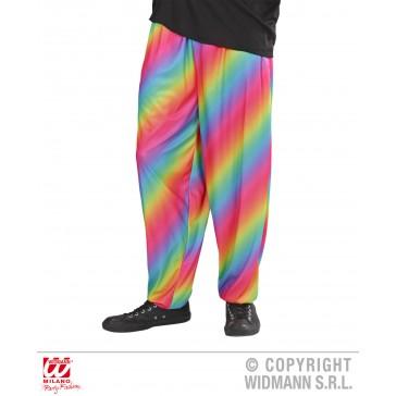 baggy broek 80's regenboog kleuren