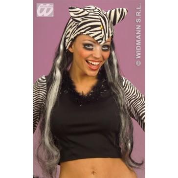 hoofddeksel zebra met haar