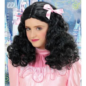 pruik, prinses zwart met lint