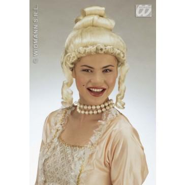 pruik, gravin jolanda blond (in plastic doos)