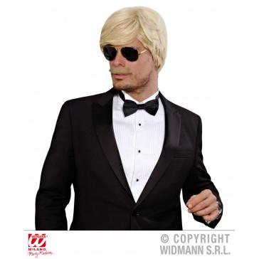 pruik droomhaar, playboy met snor blond