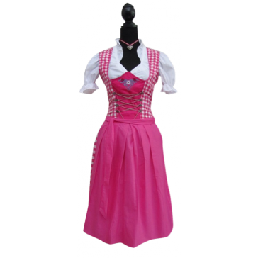 Dirndl rose-wit geruit