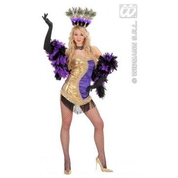 Item:Las Vegas Showgirl Goud/paars
