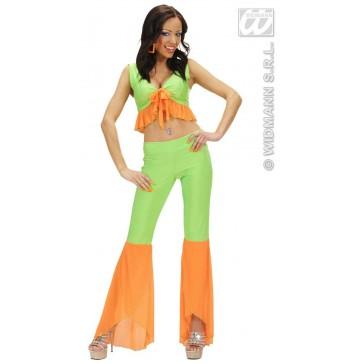 Item:Samba Top En Broek Neon Groen/oranje