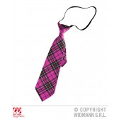 tartan print stropdas Roze