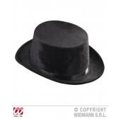 hoge hoed zwart, fluweel