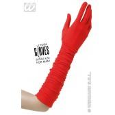 handschoenen plisse lycra, rood