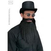 baard met snor en lippen, zwart