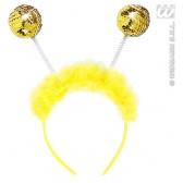 hoofdband goud pailletten met maraboe