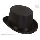 hoge hoed satijn, zwart