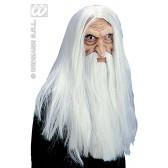 masker tovenaar met baard en snor