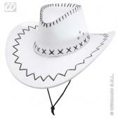 cowboyhoed wit met decoratie