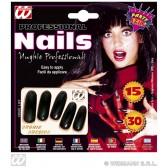 zwarte nagels lang,  per 15 verpakt