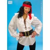 piratenshirt dames, wit