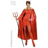 metalic rode cape met gouden kraag
