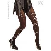 panty, zwart met vleermuis
