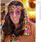 pruik, hippie (lennon) bruin