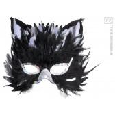 oogmasker, katje met veren