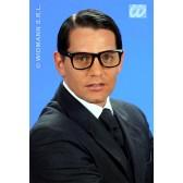 bril, karakter nerd (zwart)