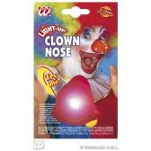 clownsneus met knipperend licht