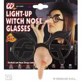 bril met lichtende heksenneus