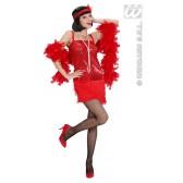 Sexy Flapper meisje rood