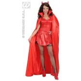 satijnen cape rood, 158cm