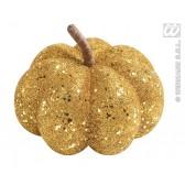glitter pompoen goud 15cm