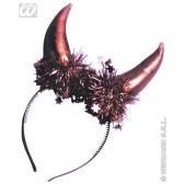 hoofdband duivel met metalic hoorntjes