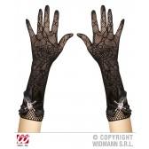 handschoenen spinneweb met strass schedel