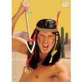 pruik, indiaan comanche (in plastic doos)