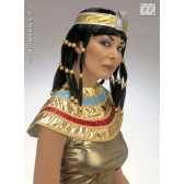 pruik, cleopatra (in plastic doos)