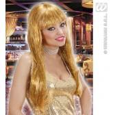 pruik, glitzy glamourpruik, goud